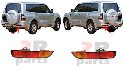 New Mitsubishi Pajero Montero Shogun Rear Bumper Light Lamp Left+Right 2000-2003