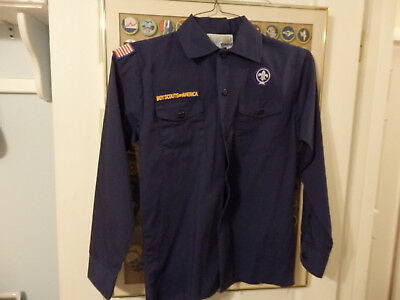 Nice Official CUB SCOUT SHIRT YOUTH MEDIUM USED BSA Boy Scouts #44