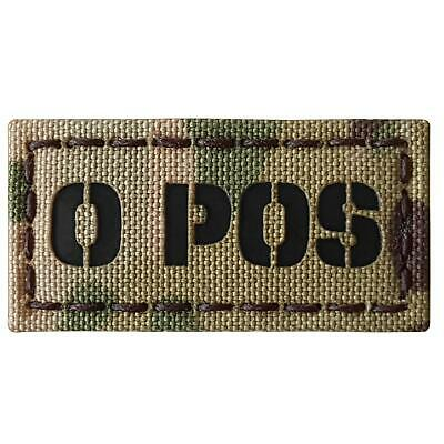 o+ O POS blood type infrared IR multicam morale tactical laser fastener patch