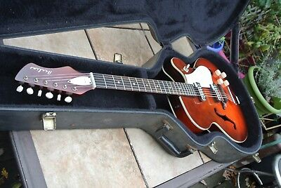 Vintage 1966 Airline Archtop Hollow Body Electric Guitar with Case