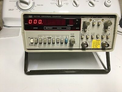 Hewlett Packard HP 5315A Universal Counter 2 Input Channel Frequency. Calibrated