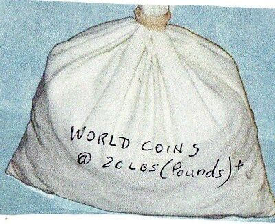 world coins 20+ lbs pounds@ 2200 coins. great variety. different coins lot 5