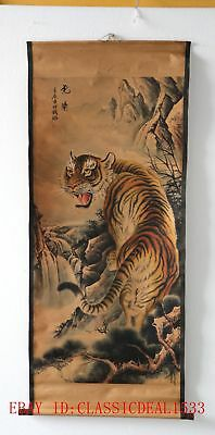 Old Collection Scroll Chinese Painting/Tiger ZH1002