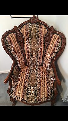 Late 1800's Early 1900's Antique Couch And Chair Set 3 Pieces Recently Recovered
