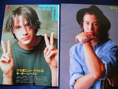 1990s Keanu Reeves in Japan 94 Clippings & 2 Posters SET SPEED VERY RARE