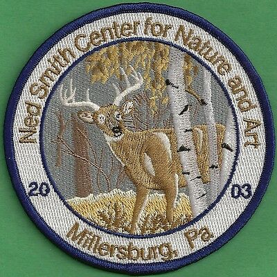 """Pa Pennsylvania Fish Game Commission Related 2003 Ned Smith 4""""  Buck Deer Patch"""
