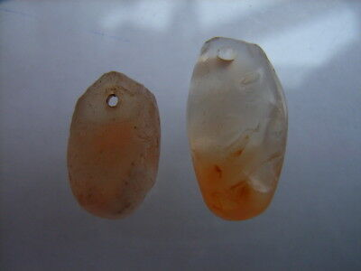 2 Ancient Neolithic Amulets, Carnelian, Stone Age, VERY RARE!  TOP !!