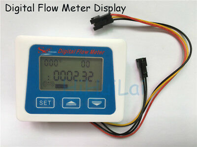 NEW LCD display Digital meter temperature measuring flow senosr total Liter Gal
