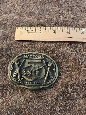 VTG MAC Tools Limited Edition Belt Buckle 50 years of excellence 1938-1988