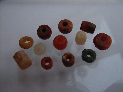 12 Ancient Neolithic Beads, Stone Age, VERY RARE!  TOP !!