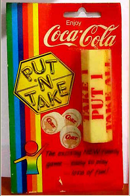 coca cola Put and Take gambling game mint-in-package w/ instructions, very rare.
