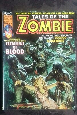 Stan Lee Tales of the Zombie No. 7 Vintage Monster Magazine. Sept 1974