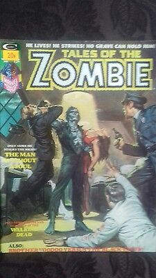 Stan Lee Tales of the Zombie No. 6 Vintage Monster Magazine. July 1974