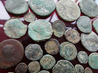 """""""ELK"""" Suffolk Collection of Uncleaned ROMAN Bronze """"SESTERTIUS"""" and other COINS"""