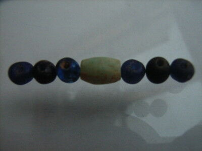 7 Ancient Roman Amazonite, Glass Beads Romans VERY RARE!  TOP !!