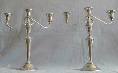 Pair of vintage sterling silver candelabras by International