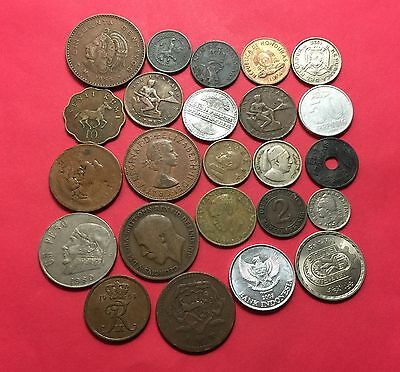 Workd Coins ,24 vintage mixed Coins .