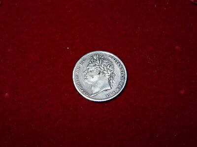 King George IV Sterling Silver Sixpence Dated 1825 - Nice Detail