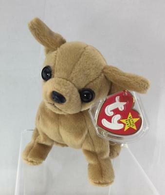 Ty Beanie Baby Rare Tiny Chihuahua Retired with ERRORS tag protector 65fed91b8c4