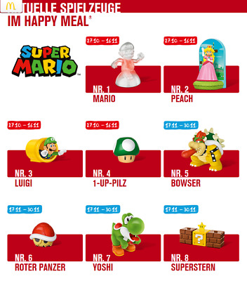 Mc Donalds Happy Meal / Super Mario  2017 / Komplette Serie / Neu - origin.Verp.