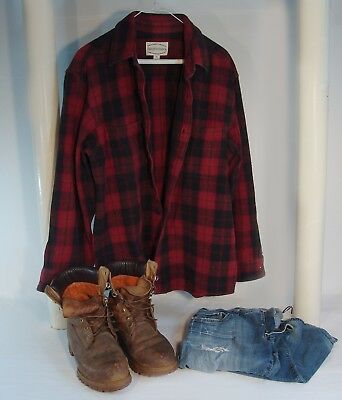 Patrick Swayze Outfit - Flannel Shirt, Jeans, Timberland Boots