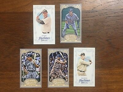 New York Yankee Mini Lot Of 5 (Allen & Ginter, Gypsy Queen) (Mantle, Maris, Jete