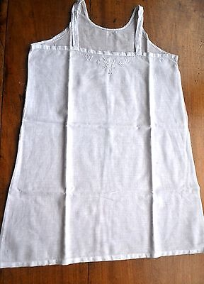 ANTIQUE VINTAGE FRENCH LINEN TOP 1930's Small ALSO for doll collectors