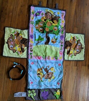 Infantino Shop & Play 3 in 1 Shopping Cart Highchair Cover, Monkeys/Jungle Theme