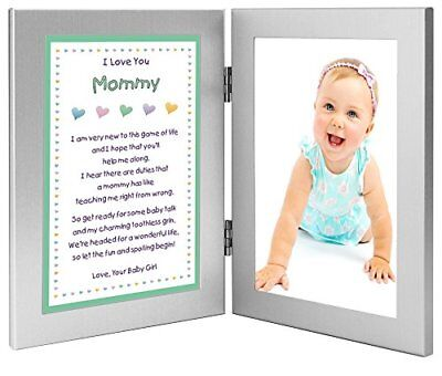 Gift for New Mom - Sweet Mommy Poem From Daughter in Double Frame- Add Photo