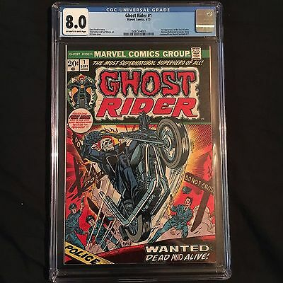 Ghost Rider #1 (Sep 1973, Marvel) CGC 8.0 Wanted Dead Or Alive!