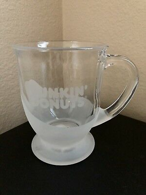 DUNKIN DONUTS- 12ozs clear glass mug $32