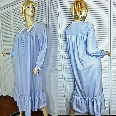 ac09804ff6 Nwt  78 Eileen West Nightgown X-Small Lilac Ballet Length Long Slv Cotton  Lawn
