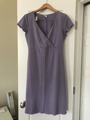 Nursing Gown Nightgown Pajamas Breast Is Best Size M Blue Periwinkle