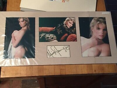 Mariel Hemingway  Signed  Cut With Photos, Matted