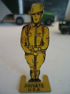 Cracker Jack Premium Flat Standing Toy Soldier with Rifle