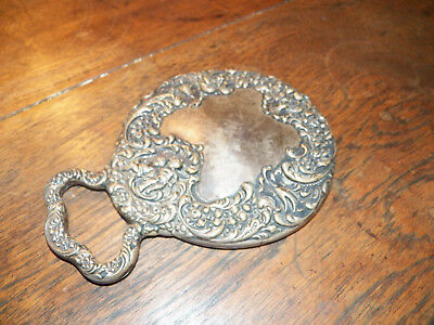 Antique Sterling Silver Hand MIrror