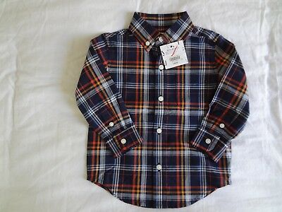 NWT Janie and Jack Long Sleeve Button Down Shirt-Size 12 to 18 Months