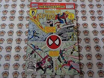 Web of Spider-Man (1985) Marvel - Annual #8, Dark at the End of the Tunnel,VF/+