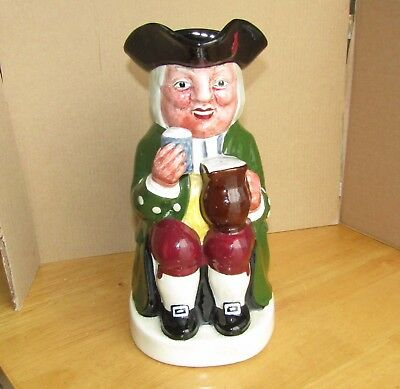 "FIELDING'S Large Character Toby Jug 9"" ceramic Toby Jug Georgian drinking Man"