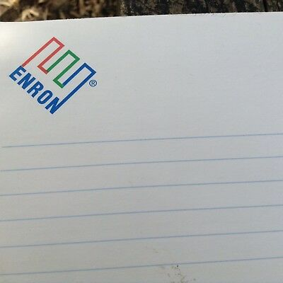"ENRON 1999 Writing Lined Note Pad 100 Pages Logo Crooked E Integrity 8.5"" X 11"""