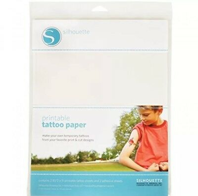 Silhouette Temporary Tattoo Paper, New, Free Shipping