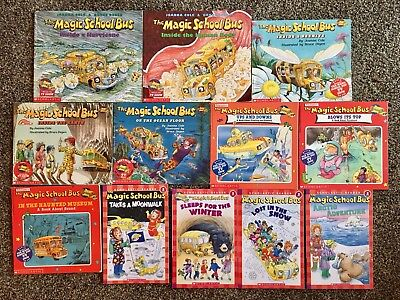 Mixed Lot of 12 The Magic School Bus Paperbacks by Joanna Cole