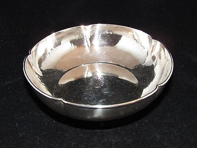 Vintage Sterling Lobed Bowl The Kalo Shop Chicago Hand Wrought #18 No Mono