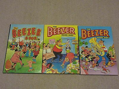 The Beezer Book/annual X 3 1984/1985/1986--Beano-Dandy-Unclipped
