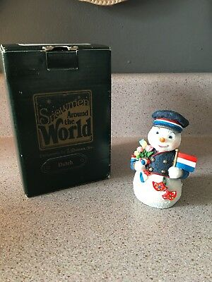 Galleria Lucchese Snowmen Around the World DUTCH Snowman Figurine 1998 Vintage