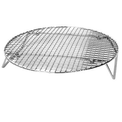 "Thunder Group SLRACK1050 10.5"" Diameter Nickel Plated Steamer Rack"