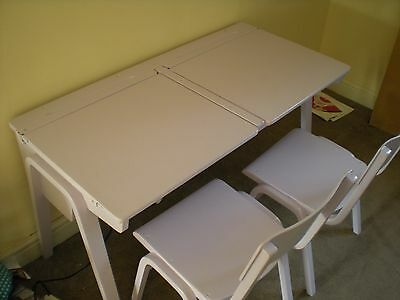 vintage / old school kids / childrens double / twin desk and chairs