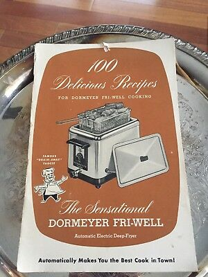 Vintage Dormeyer Fri-Well Auto Electric Cooker-Fryer Manual Recipe Booklet Deep