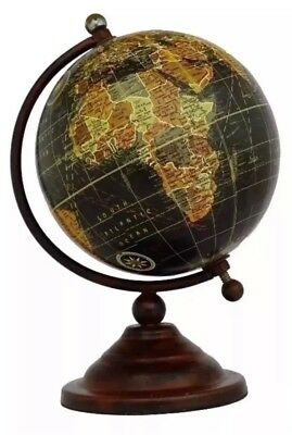 Vintage Globe Rotating  Atlas Geography World Gift 18cm High BLACK FRIDAY SALE