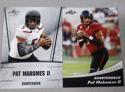 2017 Pat Mahomes LEAF DRAFT exclusive limited edition RC  (RARE!) 2 card lot🔥🔥